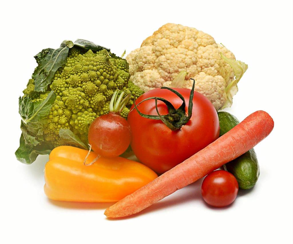 Gesunde Ernährung mit Gemüse