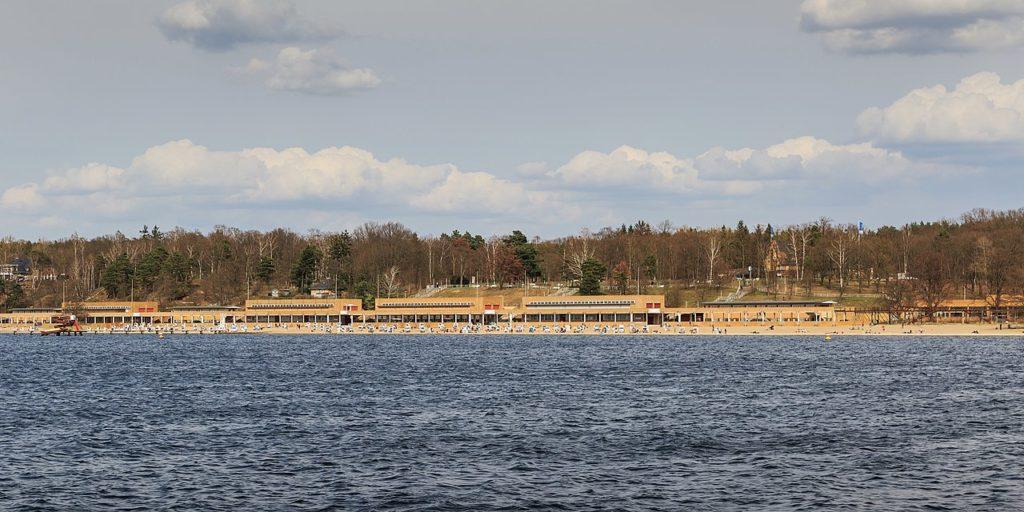 Strandbad Wannsee vom Wasser aus