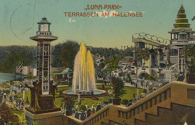 Ansichtskarte vom Lunapark - Terrassen am Halensee